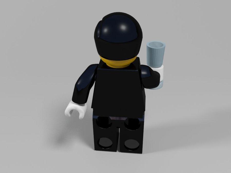 Restauracyjne postacie Lego royalty-free 3d model - Preview no. 13