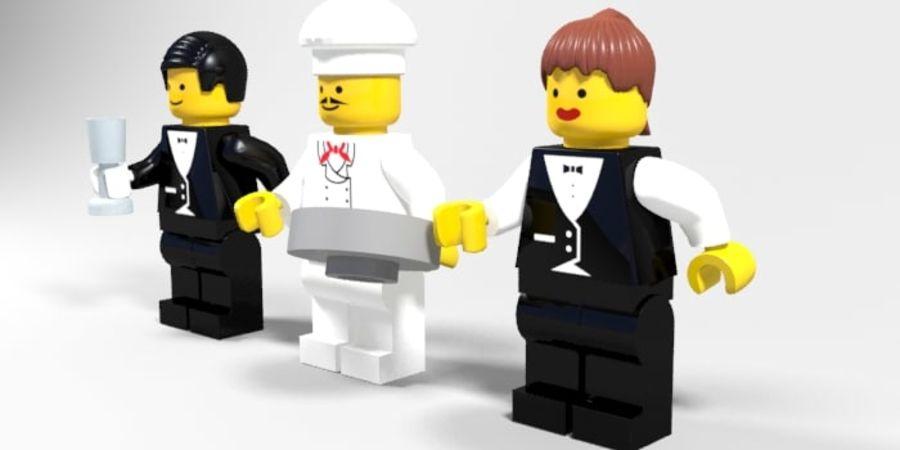 Restauracyjne postacie Lego royalty-free 3d model - Preview no. 3