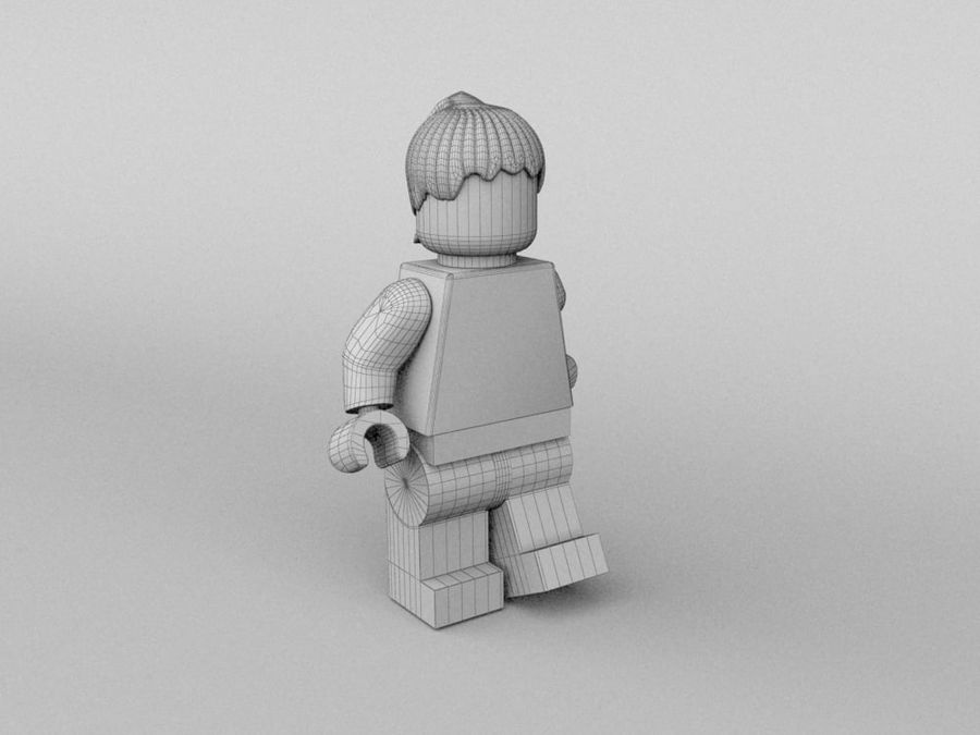 Restauracyjne postacie Lego royalty-free 3d model - Preview no. 22