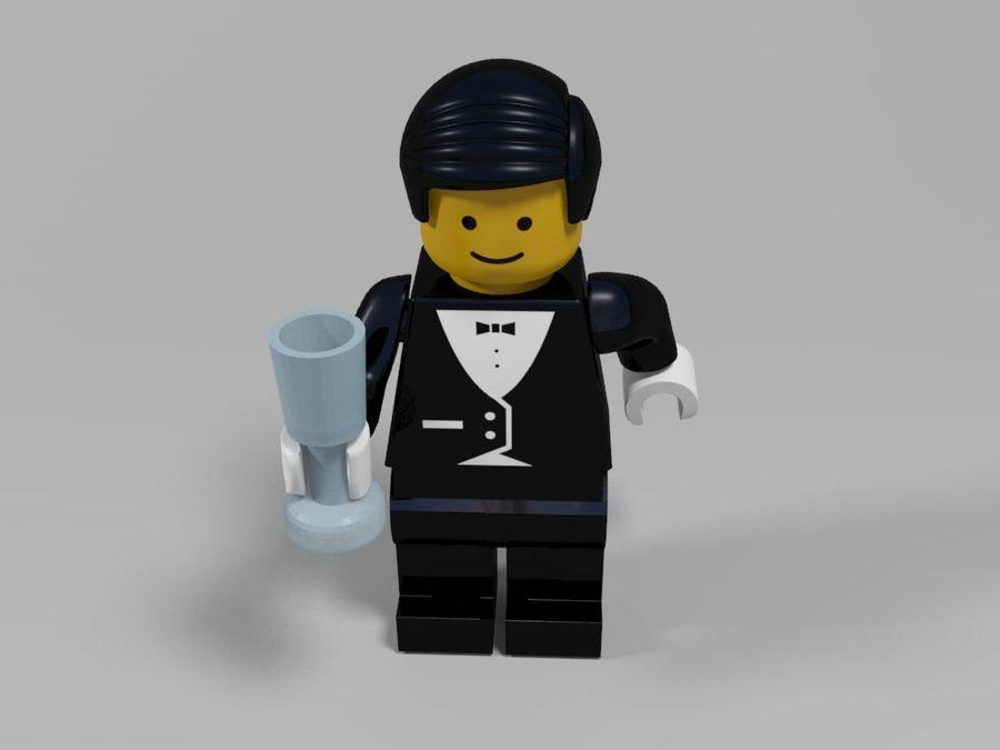 Restauracyjne postacie Lego royalty-free 3d model - Preview no. 12