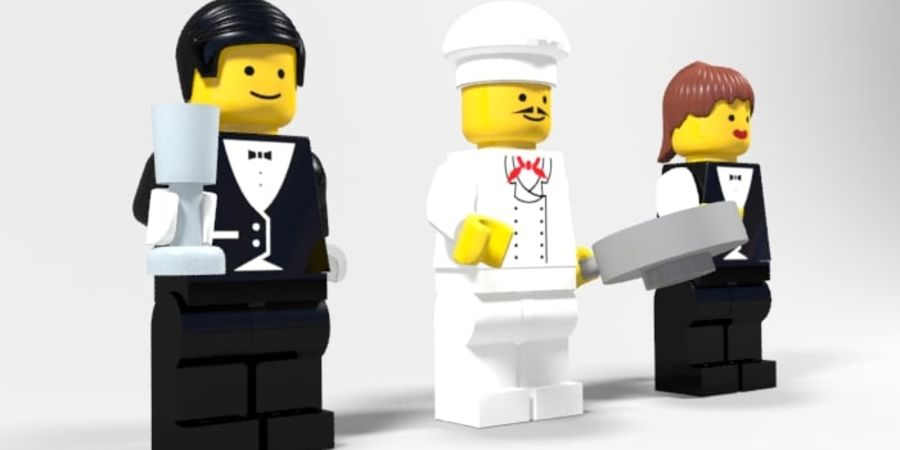 Restauracyjne postacie Lego royalty-free 3d model - Preview no. 2