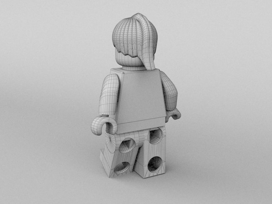 Restauracyjne postacie Lego royalty-free 3d model - Preview no. 23