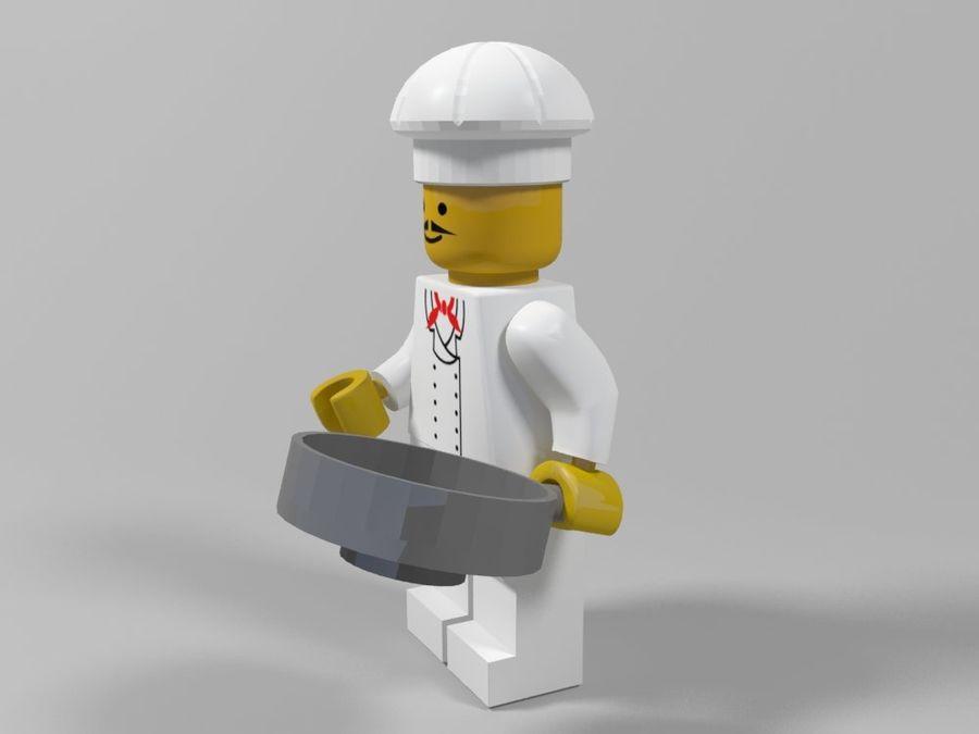 Restauracyjne postacie Lego royalty-free 3d model - Preview no. 7