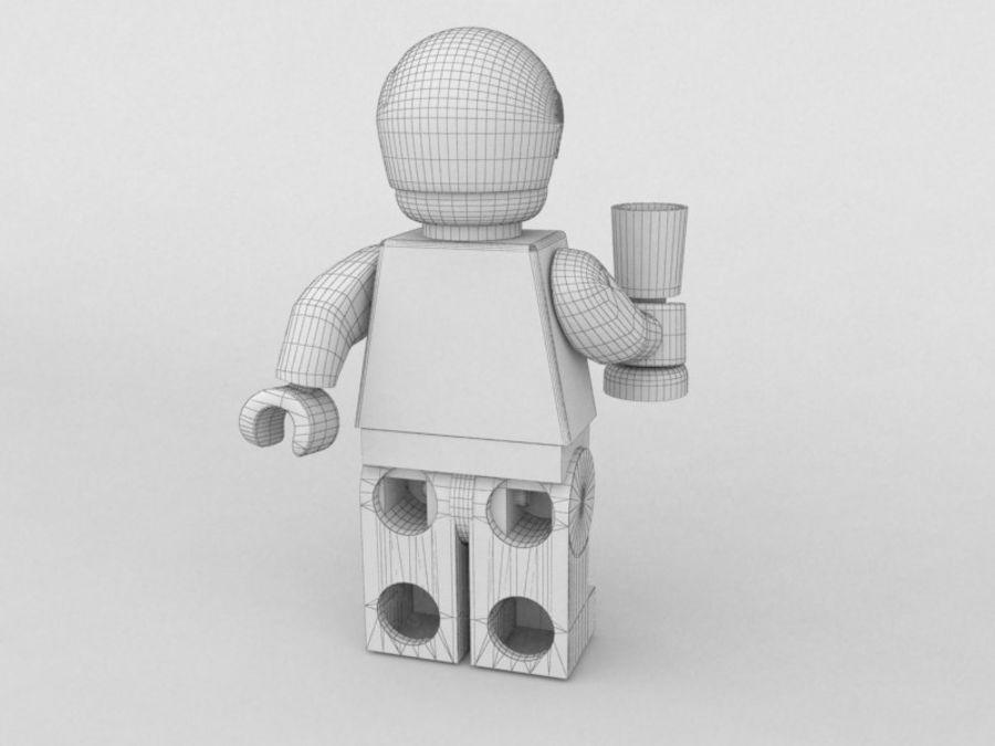 Restauracyjne postacie Lego royalty-free 3d model - Preview no. 17