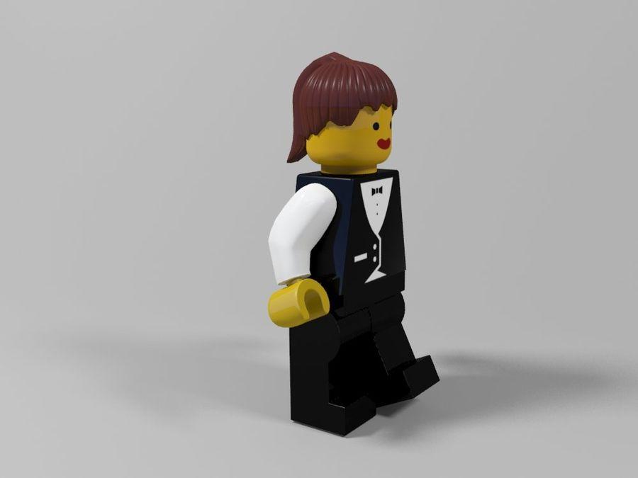 Restauracyjne postacie Lego royalty-free 3d model - Preview no. 21