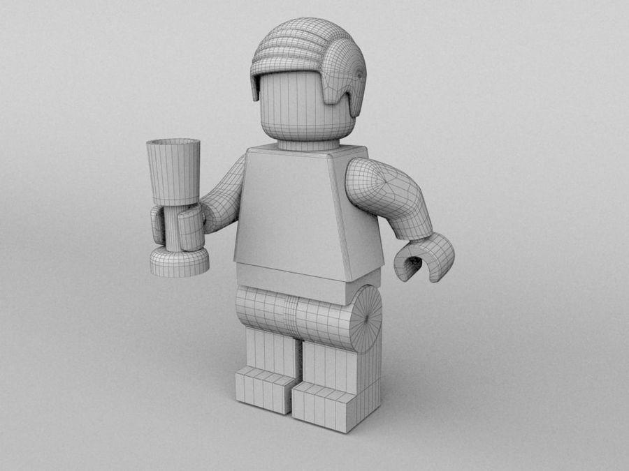 Restauracyjne postacie Lego royalty-free 3d model - Preview no. 16