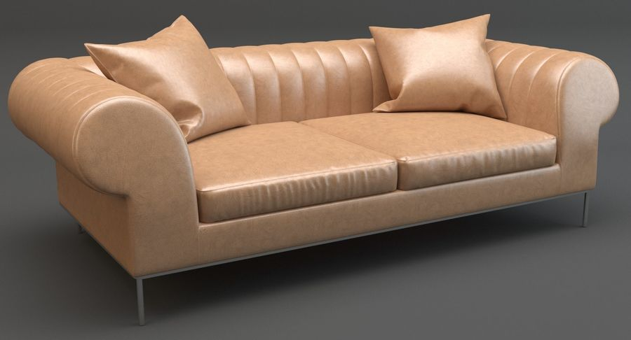 Busnelli Deja vu bank royalty-free 3d model - Preview no. 3