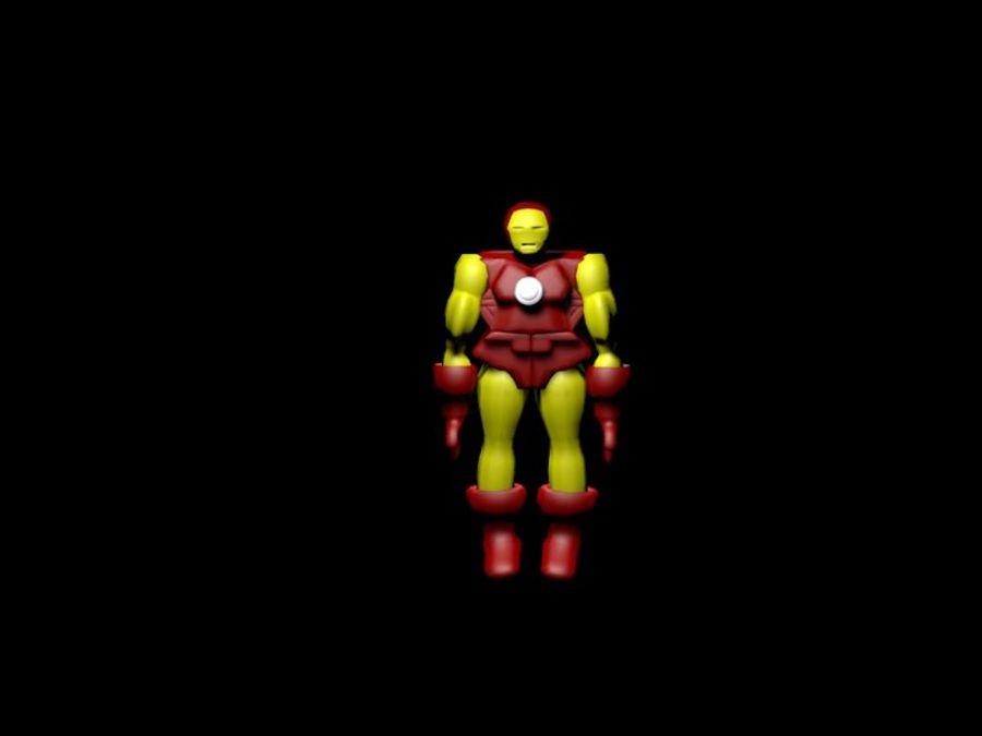 Iron Man royalty-free 3d model - Preview no. 5