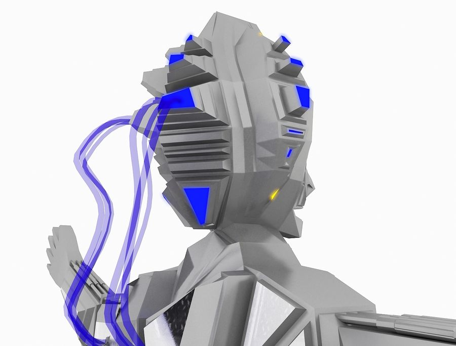 Character Robot royalty-free 3d model - Preview no. 24