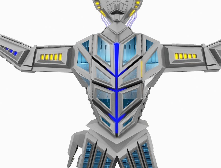 Character Robot royalty-free 3d model - Preview no. 22