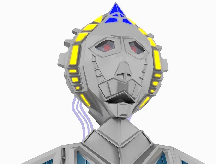 Character Robot royalty-free 3d model - Preview no. 23