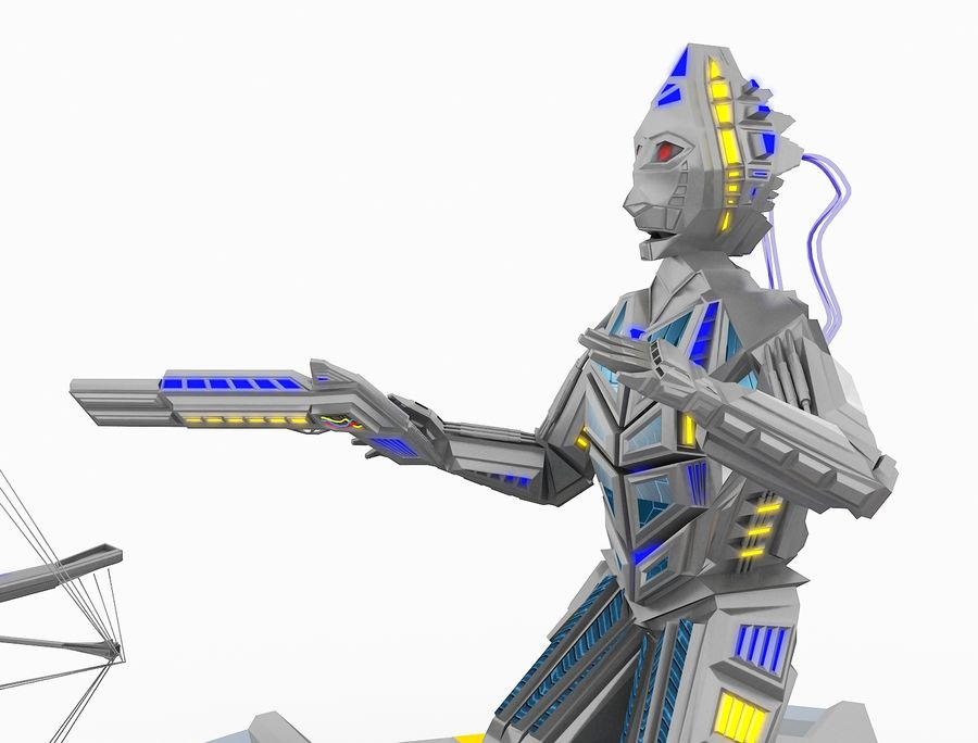 Character Robot royalty-free 3d model - Preview no. 19