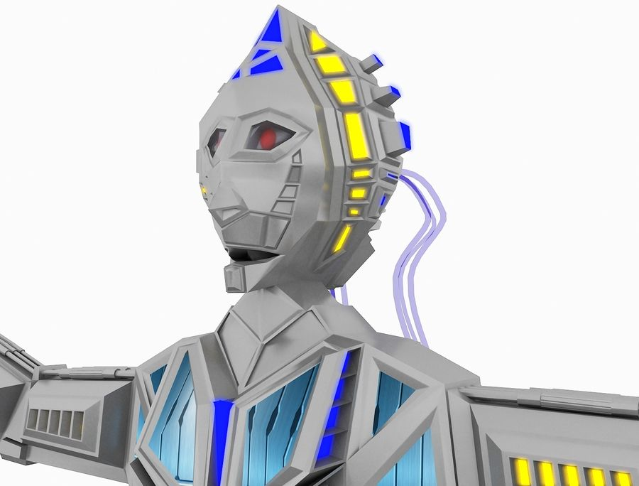 Character Robot royalty-free 3d model - Preview no. 26