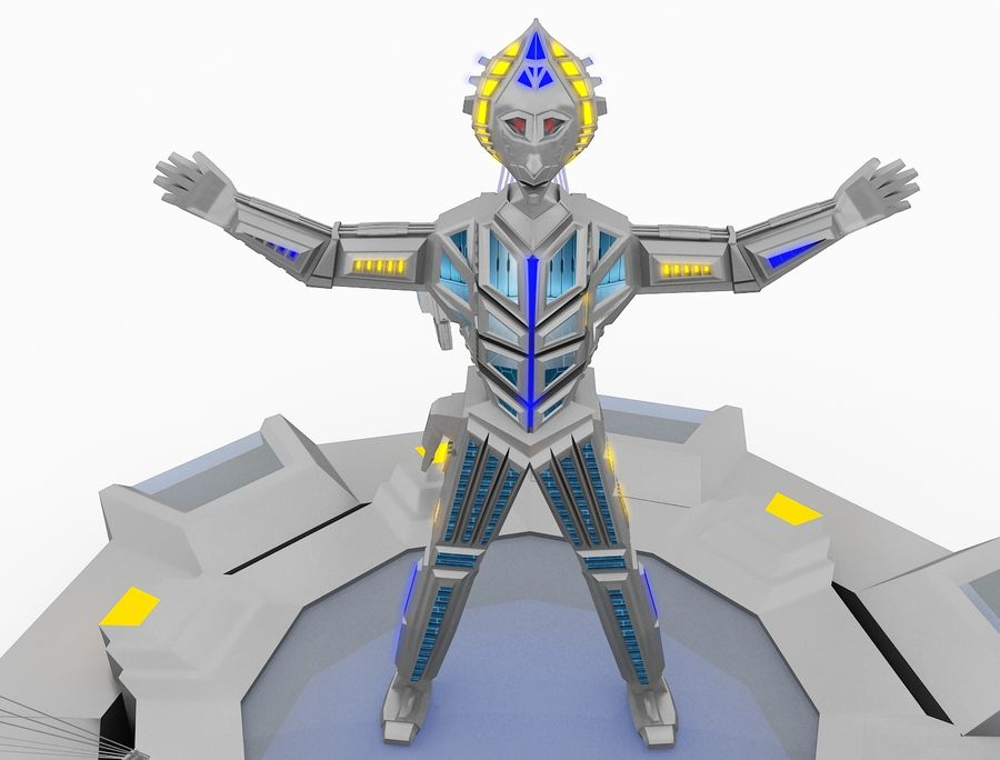 Character Robot royalty-free 3d model - Preview no. 5