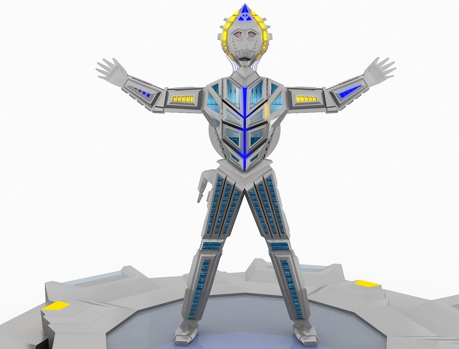 Character Robot royalty-free 3d model - Preview no. 2
