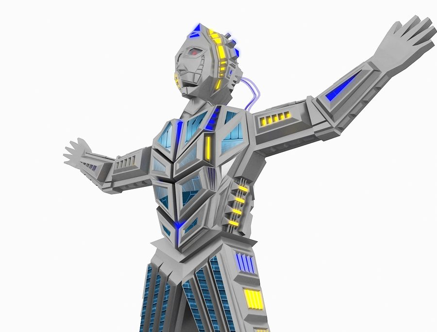 Character Robot royalty-free 3d model - Preview no. 25