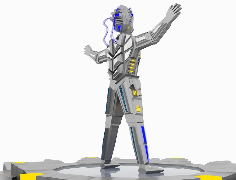 Character Robot royalty-free 3d model - Preview no. 27