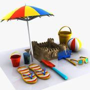 Cartoon Beach Items 1 3d model