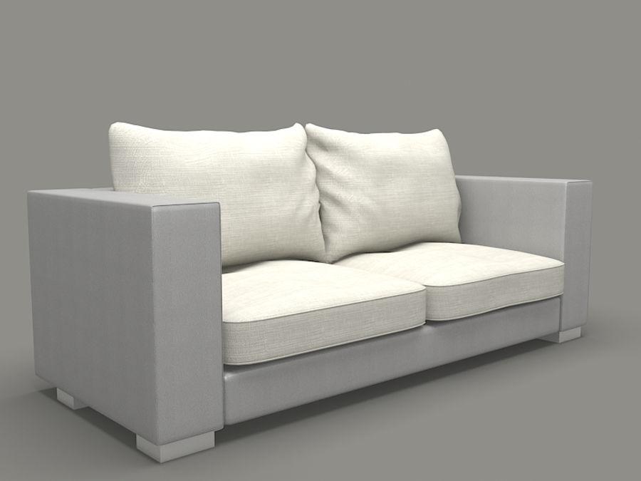 poltrona divano royalty-free 3d model - Preview no. 2