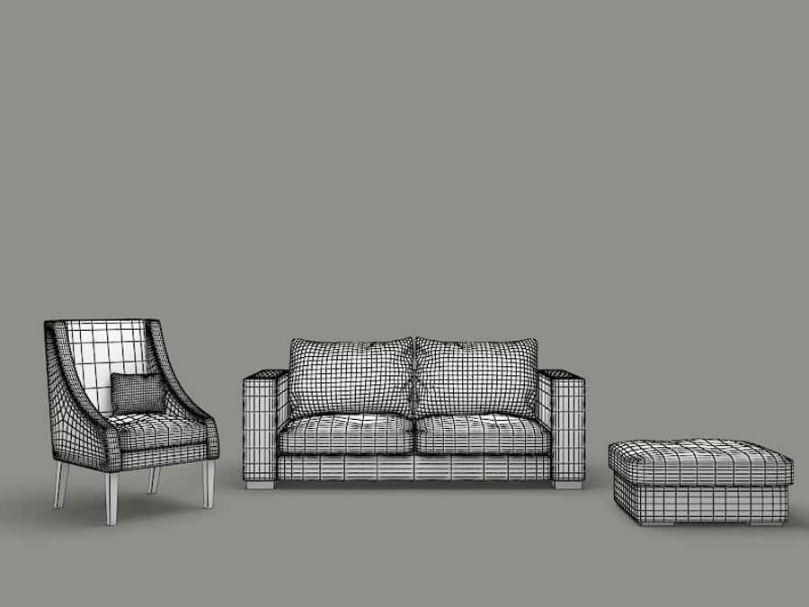 poltrona divano royalty-free 3d model - Preview no. 5