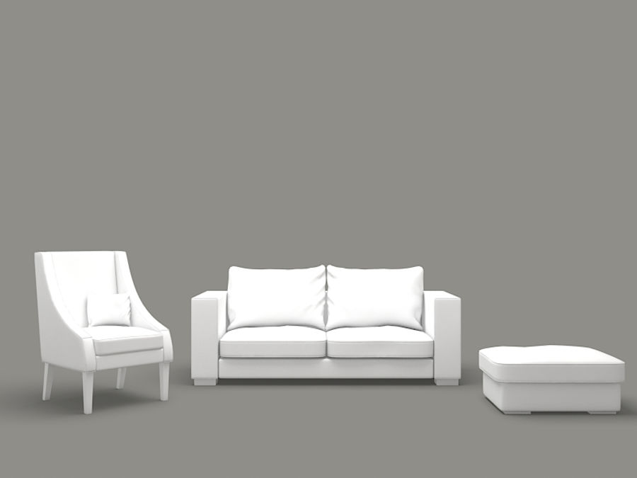 poltrona divano royalty-free 3d model - Preview no. 6