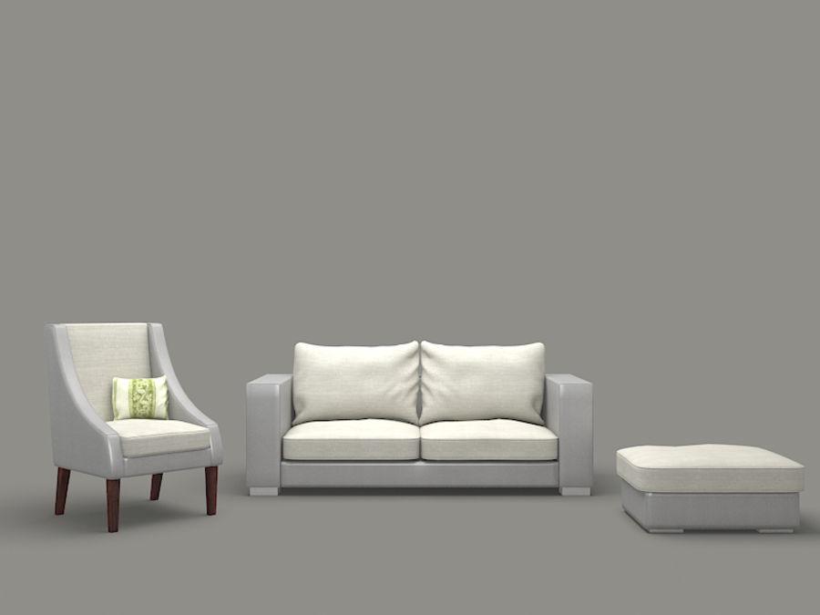 poltrona divano royalty-free 3d model - Preview no. 1