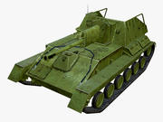 SU-76M Low Poly 3d model
