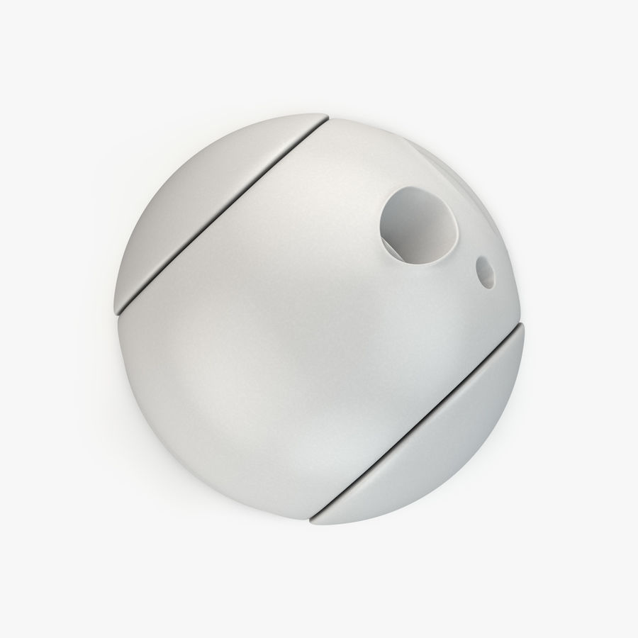 Caméra de surveillance 360 degrés royalty-free 3d model - Preview no. 7
