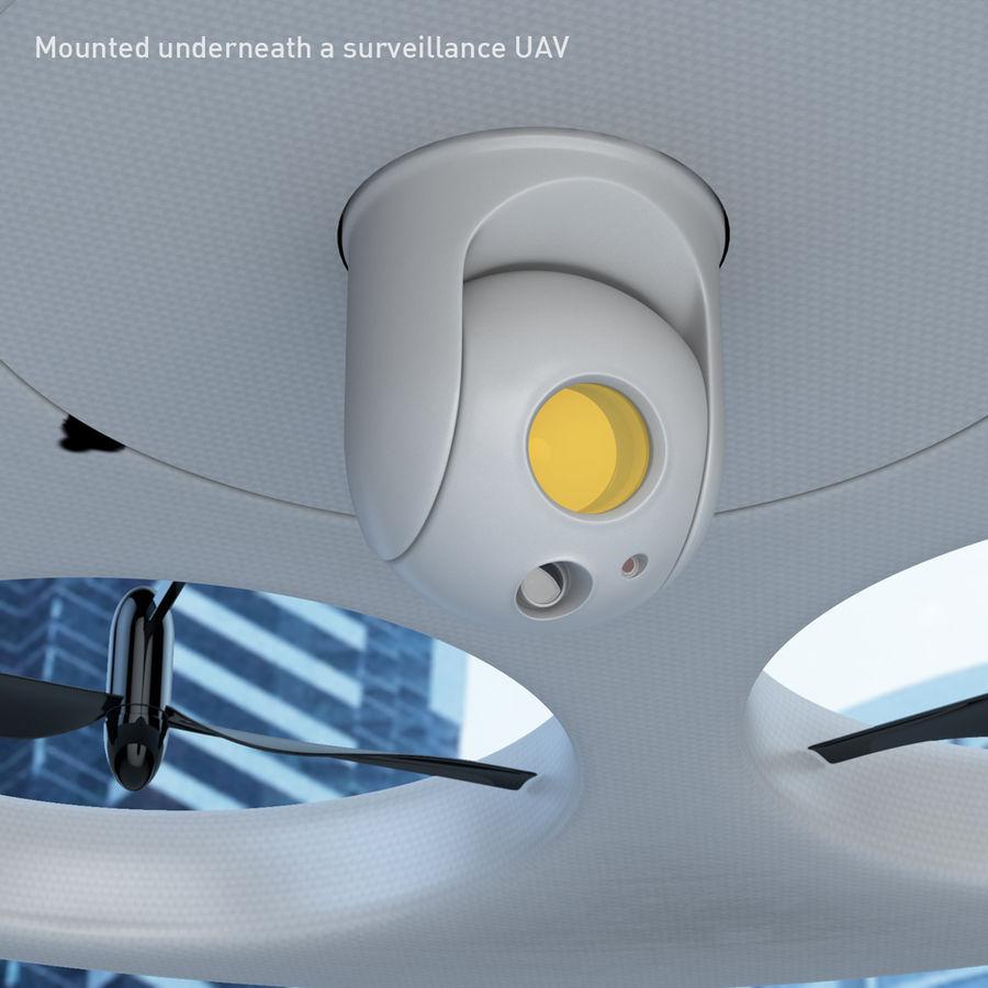 Caméra de surveillance 360 degrés royalty-free 3d model - Preview no. 3