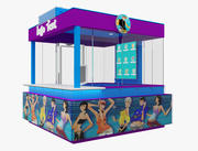 Booth Exhibition Stand(2) 3d model