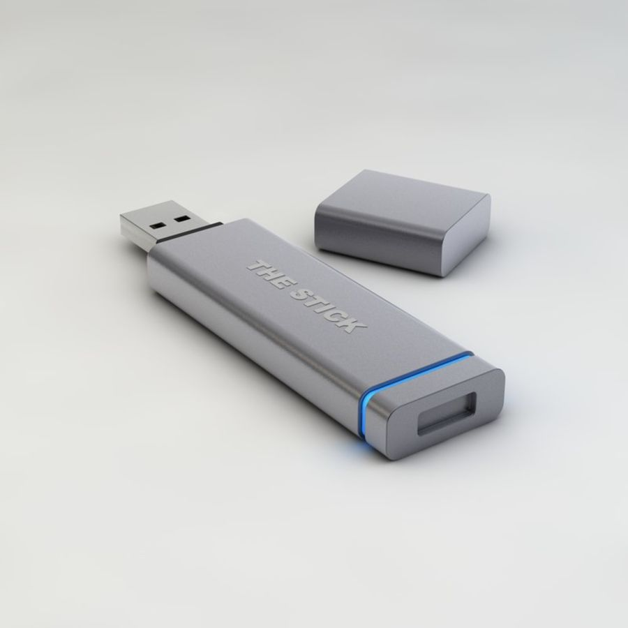 USB Stick royalty-free 3d model - Preview no. 2