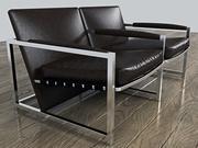 Современное стильное двойное кожаное офисное кресло 3d model