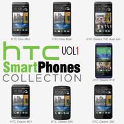 HTC Smartphones Collection v1 3d model