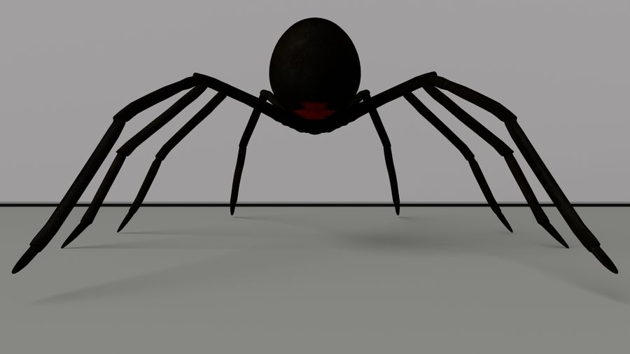 Black Widow Spider royalty-free 3d model - Preview no. 7