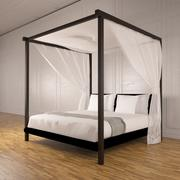 Four poster bed 3d model