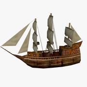 Корабль Низкополигональная 3d model