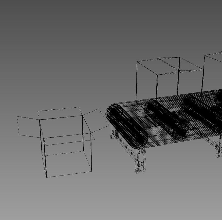 Конвейер 3d анимация горизонтальный ленточный конвейер курсовая работа