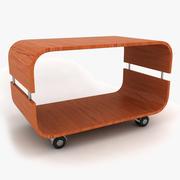 Table Basse Roulante Contour 3d model