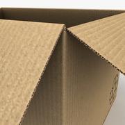 Cardboard Box (Open) 3d model