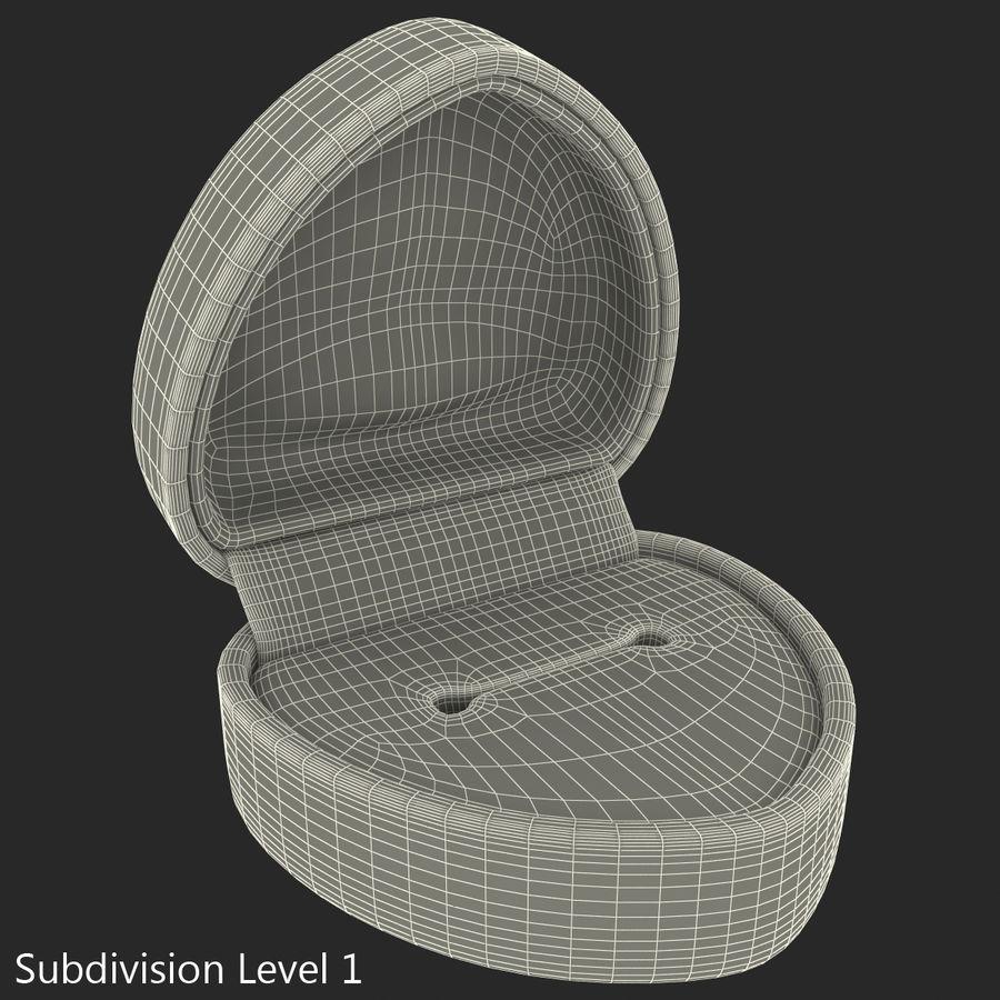 Roter Samt Strukturierter Herz Ring Kasten 3d Modell 29 Max