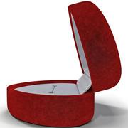 Kırmızı Kadife Dokulu Kalp Yüzük Kutusu 3d model