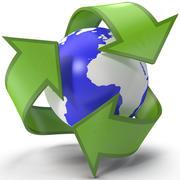 Recycling Symbol 2 3d model