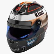 レーシングヘルメットメルセデス 3d model