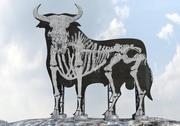 graffiti bull billboard 3d model