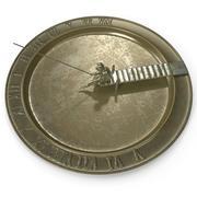 Cadran Solaire Pêcheur Bronze 3d model