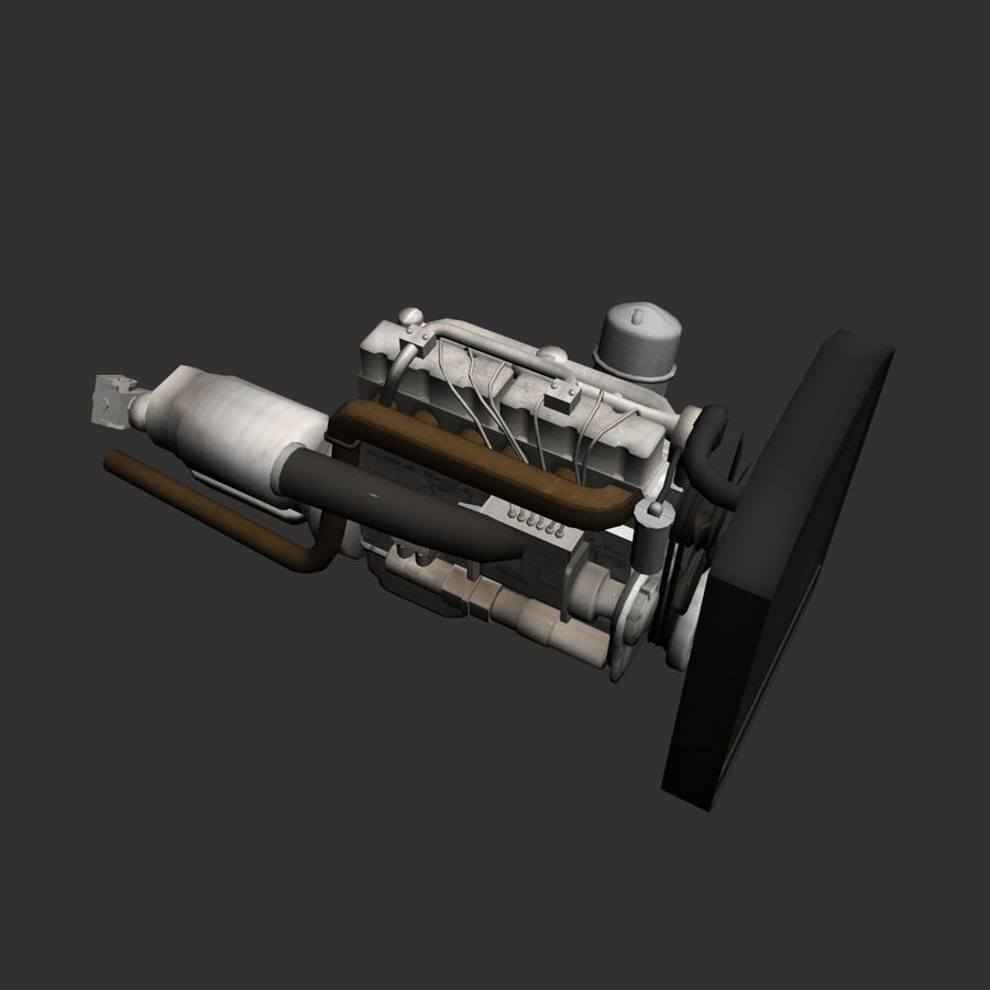 Motor 3 royalty-free 3d model - Preview no. 10
