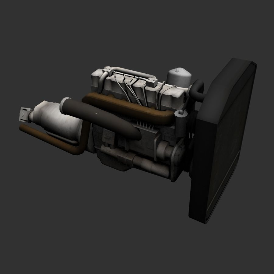 Motor 3 royalty-free 3d model - Preview no. 2