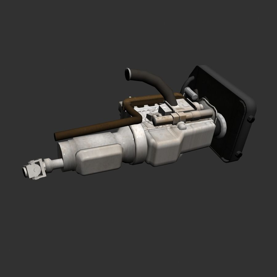 Motor 3 royalty-free 3d model - Preview no. 11