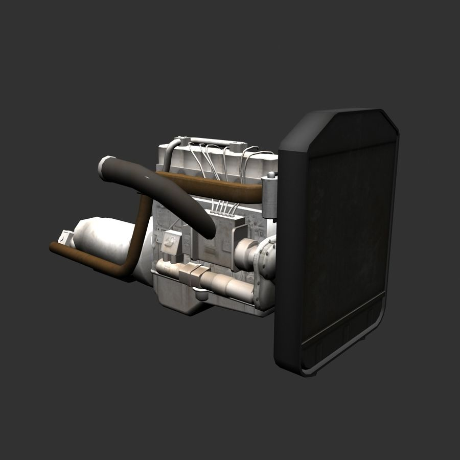 Motor 3 royalty-free 3d model - Preview no. 3