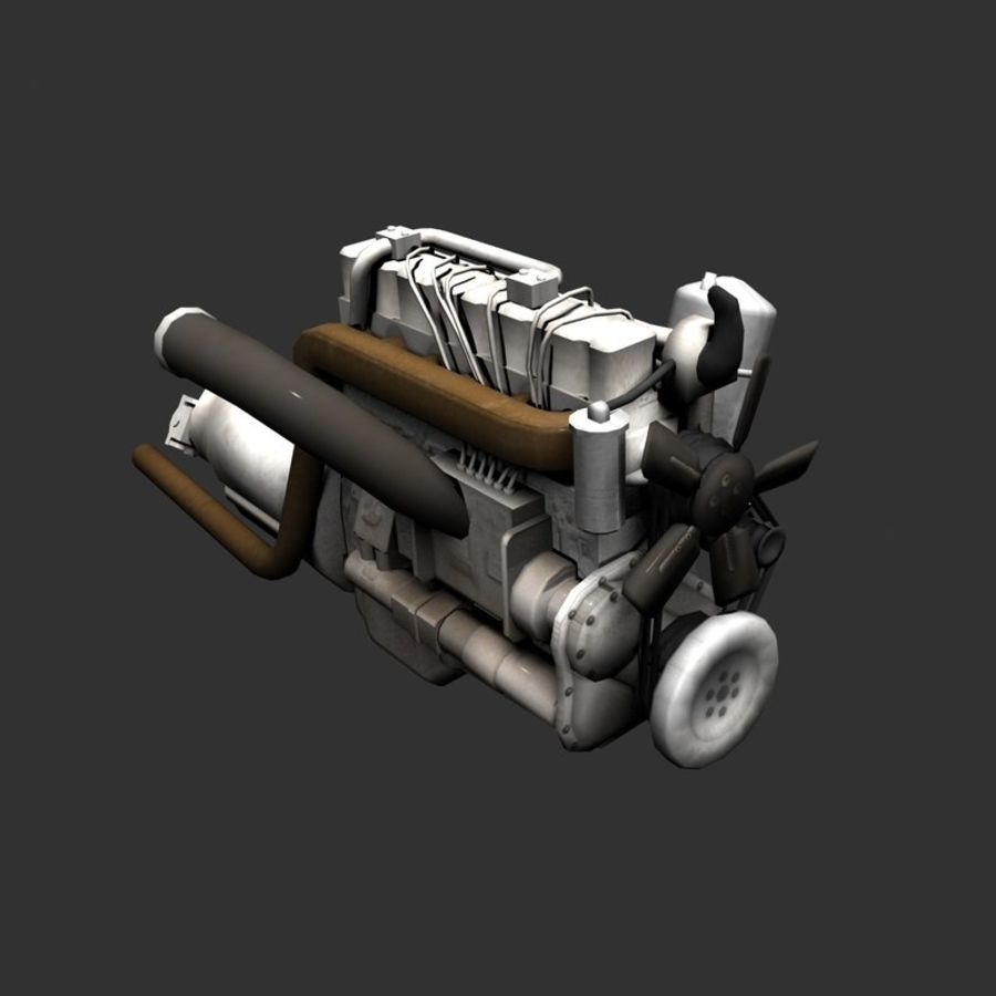Motor 3 royalty-free 3d model - Preview no. 15
